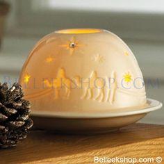 Belleek Three Kings Votive - Christmas Decorations