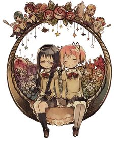 Madoka Magica  OMG THIS PICTURE. THE FEELS COME ALIVE  #madokamagica