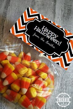 Free printable Halloween bag topper
