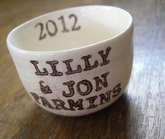 personalized ring dish with newly married couples by ElyciaCamille, $12.00
