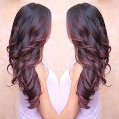 burgundy balayage ombre - Google Search