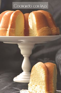 Bunt Cakes, Cupcake Cakes, No Bake Desserts, Delicious Desserts, Donuts, Plum Cake, Pan Dulce, Pound Cake Recipes, Almond Cakes