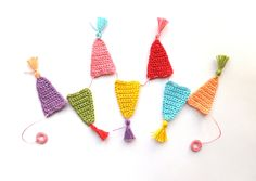 Apaixonar-se Guirlanda Bandeirinha Franjas crochê Crochê -  /  Falling in Love Garland Bunting Tassels Crochet -