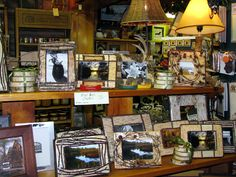 Frames among tons of rustic Adirondack decor ideas at Hoss's