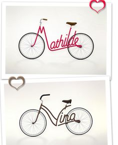 Your name on your bike! I would have died for one of these as a kid...and as an adult. Swoon.