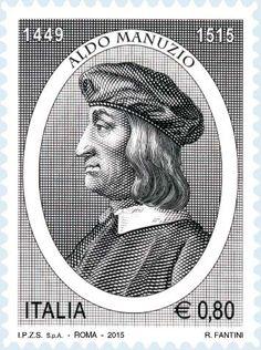 2015 - 500º anniversario della morte di Aldo Manuzio - Ritratto di Aldo Manuzio