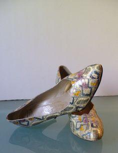 Vintage Thos Cort LTD Snake Skin  Heels 6.5M by TheOldBagOnline on Etsy
