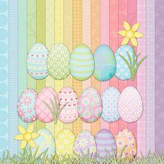 Pastel Easter Egg Clip Art