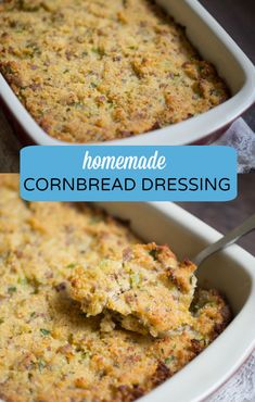 The best homemade cornbread dressing you'll ever try! Made with my homemade cast iron buttermilk cornbread, fresh herbs and Italian turkey sausage.
