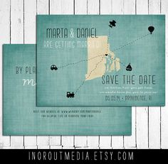 Wedding Save the Date Card - Nautical, Destination wedding, travel, state save the date, modern, rustic wedding, rustic style. $55.00, via Etsy.