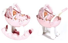 My First Baby Annabell 2 in 1 Pram/Bed  Detachable rockers to reveal wheels!  http://www.comparestoreprices.co.uk/dolls/unbranded-my-first-baby-annabell-2-in-1-pram-bed.asp