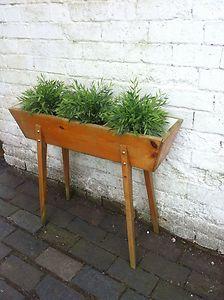 Vintage Retro 50s 1950s Planter Plant Pot Window Box Next To Table Sofa | eBay