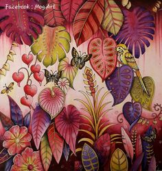 An error has occurred, please send an error report Coloring Book Art, Colouring Pages, Adult Coloring Pages, Magical Jungle Johanna Basford, Johanna Basford Secret Garden, Johanna Basford Coloring Book, Caran D'ache, Colored Pencil Techniques, Polychromos