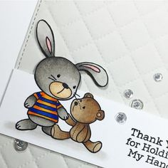 I love the snuggle bunnies stamp set from @mftstamps - the images and sentiments are perfect together! #mftstamps #thedailymarker30day #handmadehugs #handmadecards #cardmaking