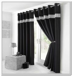 white curtains
