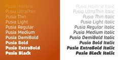 Pusia™ - Webfont & Desktop font « MyFonts