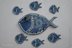 Поделка изделие Лепка Роспись Рыба как символ Тесто соленое фото 5