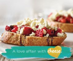Combine classic flavours with Tre Stelle Strawberry and Feta Bruschetta! Appetizer Recipes, Dessert Recipes, Appetizers, Desserts, Bruschetta, Food Challenge, Strawberry Recipes, Light Recipes, High Tea
