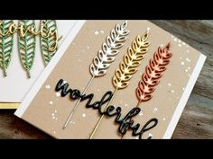 Faux Metal Embellishments (Heat Embossing) - YouTube...LOVE the script/font Jennifer uses in this video, too, as well as the water drops embossing
