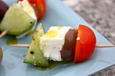 Make and share this Greek Salad Skewers recipe from Food.com.