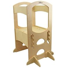 Little Partners Learning Tower Kids Adjustable Height Kitchen Step Stool for Toddlers or Any Little Helper - Natural