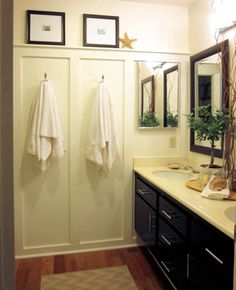 If you need to give a dull, boring guest bathroom a makeover, here's how to do it yourself in a weekend - and on a tight budget. This small bathroom was given a weekend makeover for under R1000, and the end result was well worth it...! http://www.home-dzine.co.za/bathroom/bathroom-weekend-makeover.htm#