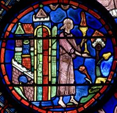 Chartres Cathedral Stained Glass - Bay 21 (St Julien the Hospitaller) Panel 28