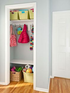 Clever Custom Closet Ideas - once and for all I need to organize my linen closet.  Great idea here.