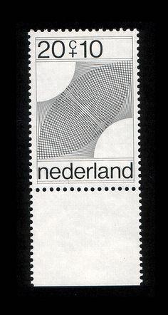 """Dutch stamp Designed by Robert Oxenaar Graphic Design """"A"""" by Jeff Rogers DW Workshop: Visual Systems - Design Werkstatt, via graphic desi. Postage Stamp Design, Postage Stamps, Poster Design, Design Art, Ticket Design, Interior Design, Op Art, Schrift Design, Typography Design"""