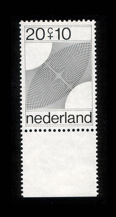 Dutch stamp    Designed by Robert Oxenaar