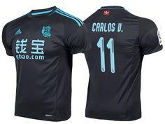 6e32a7989 Real Sociedad  11 Carlos Vela 2016-17 Road Short Shirt Team Games