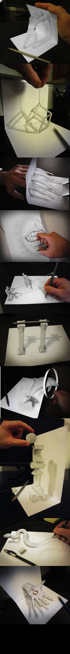 #dessin #illusion #3D