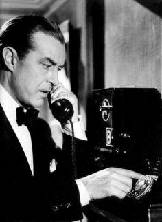 """Ray Milland en """"Crimen Perfecto"""", 1954"""