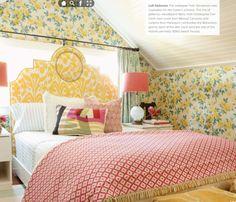 taylor-borsari-bedroom #prints #patterns #color