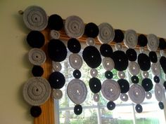Modern Crocheted  Valance-- for the kitchen window!
