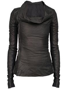 RICK OWENS Black Calf Side Zip Jacket