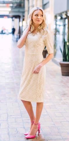 Alaina Dress - Cream