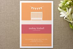 Nifty Nursery Baby Shower Invitations by sweet tree studio at minted.com