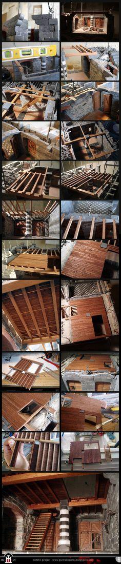 Domus project 102-105-111: Wooden beams and mezzanine floor