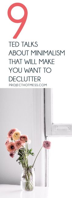 Need some decluttering inspiration to get your minimalist lifestyle going? These TED Talks about minimalism will make you want to declutter and simplify your home and your life right now. via Project Hot Mess Minimalist Lifestyle, Minimalist Living, Minimalist Decor, Ted Talks, Emotional Clutter, Art Of Letting Go, Declutter Your Life, Planner Organization, Organizing