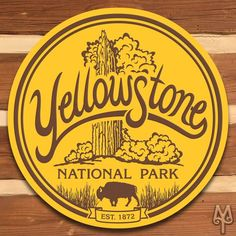 Add this decorative, metal wall sign to your home or cabin; and, show everyone that you love Yellowstone National Park. A decorative wall sign made using heavy gauge American steel and a process known as sublimation, where the image is baked into a powder coating for a durable and long lasting finish. 14 inch diameter signs have one 3/16 inch top mounting hole.  28, 36, and 42 inch diameter signs have four 3/16 inch holes at 90 degree intervals. Designed in Montana. Made in the USA....