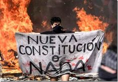 "Chilean Revolution - ""New Constitution or Nothing"" Truth Hurts, It Hurts, Protest Posters, Riot Police, Change Is Good, Read News, Aerial View, My Images, Revolution"