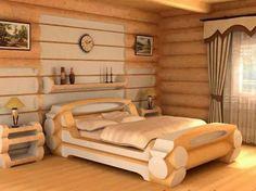 How to Build a Log Bed – Tutorial Furniture, Bedroom Design, Home Decor, Rustic Bedding, Bed, Rustic Furniture Diy, Rustic Log Furniture, Log Bed Frame, Furniture Design
