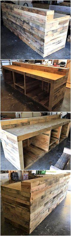 wood pallet bar plan