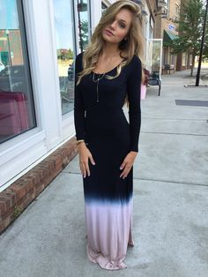 Ombre maxi dress #swoonboutique