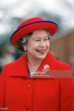 Queen Elizabeth II visits Port Regis School in Dorset (Photo by Tim Graham/Getty Images)