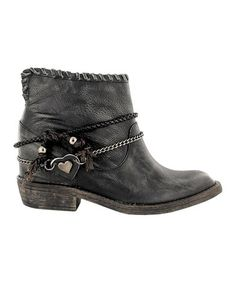 Look what I found on #zulily! Black & Silver Nubla Leather Boot #zulilyfinds