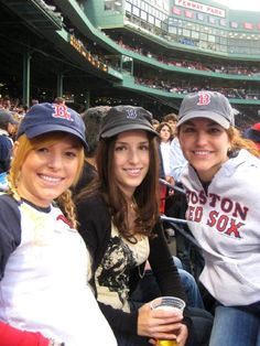 Red Sox game with my sisters <3