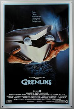 Zach Galligan Movie Silk Fabric Poster GREMLINS 1984 Phoebe Cates