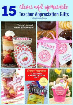 "Clever and Memorable Teacher Appreciation Gifts."" to an amazing teacher with these 15 Clever and Memorable Teacher Appreciation Gift Ideas! Tracher Gifts, Candy Gifts, Thank You Gifts, Appreciation Message, Teacher Appreciation Gifts, Gourmet Gifts, Mason Jar Gifts, Creative Gifts, Homemade Gifts"